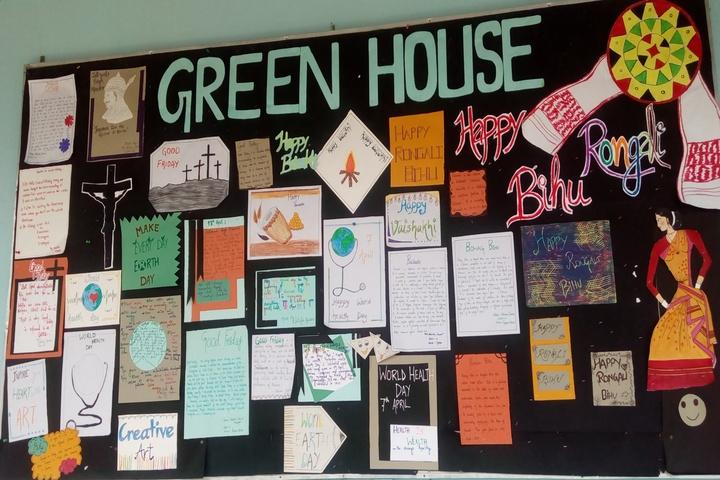 Green meadows school - house board