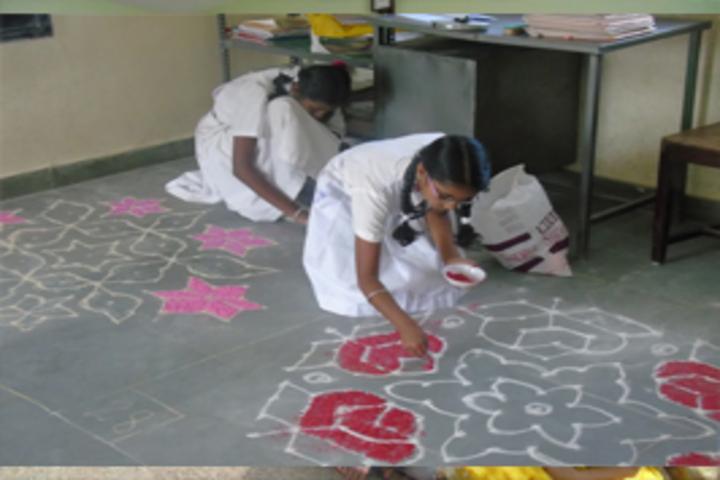 Mount Carmel School-Rangoli Competition