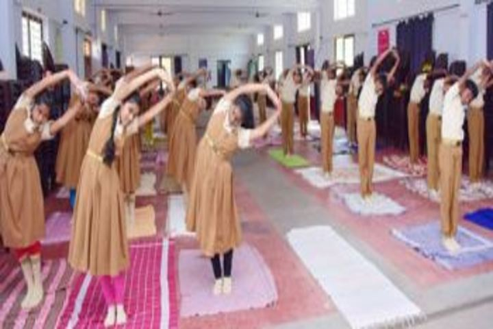 S M S English Medium School-Yoga Activity