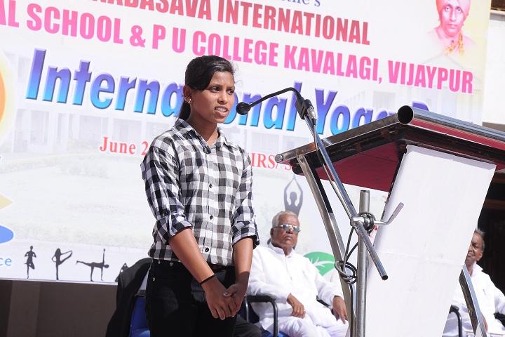 Sanganabasava International Residential School-Student Speech