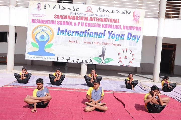Sanganabasava International Residential School-Yoga Day