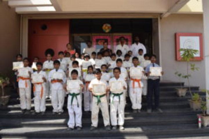 Sanganabasava Shishuniketan School-Karate Class