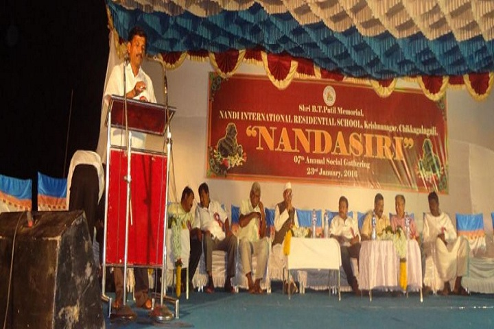 Shri B T Patil Memorial Nandi International Residential School-Speech