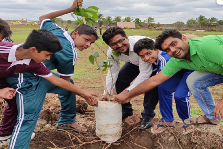 Swaminarayan International School-Tree Plantation