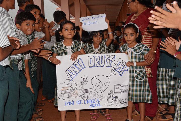 Benhill English School-Anti Drugs Day
