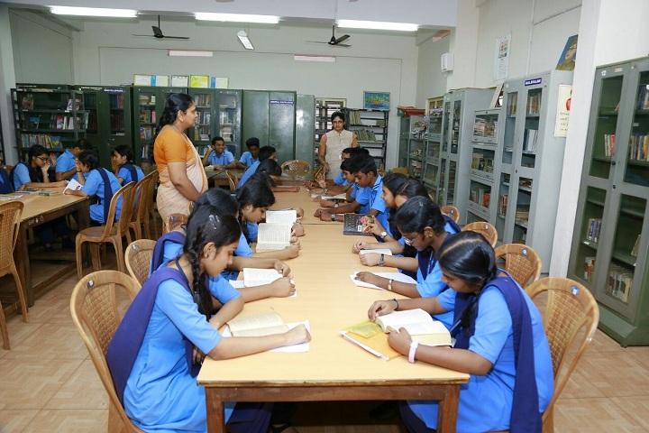 Bhavans Adarsh Vidyalaya-Library