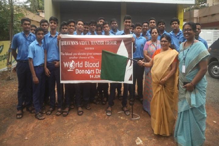 Bhavans Vidya Mandir-World Blood Donation Day