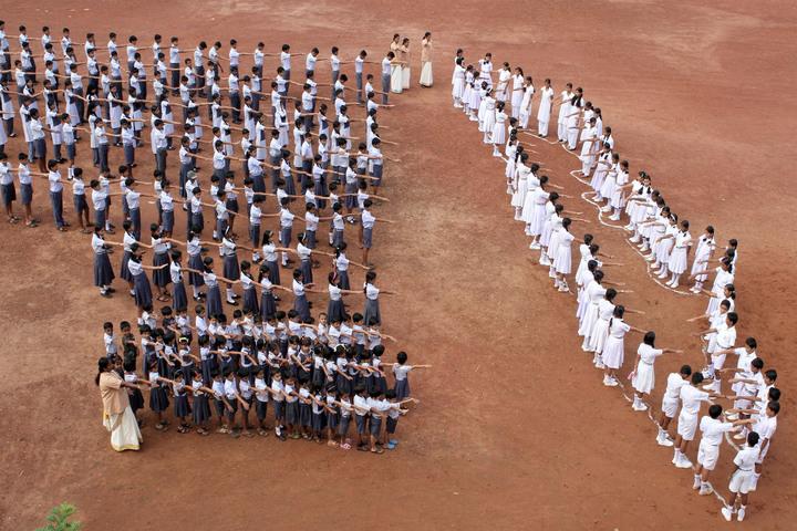 Chinmaya Vidyalaya-Morning Assembly