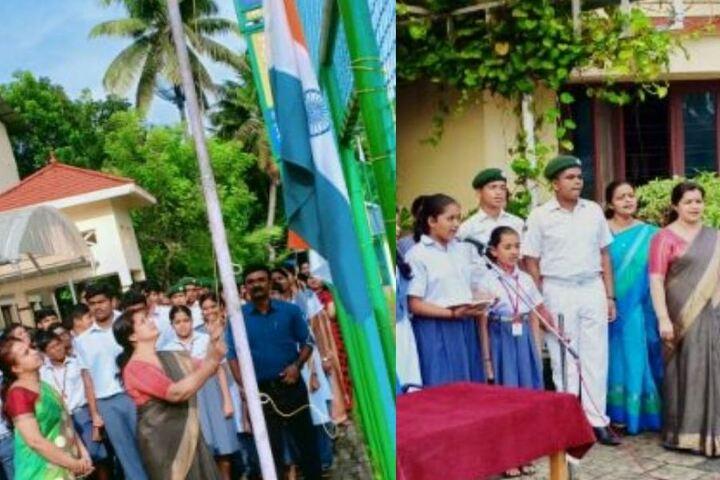 Chinmaya Vidyalaya-Flag Hoisting