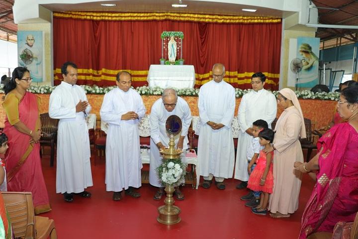 Devamatha CMI Public School-Lighting the lamp