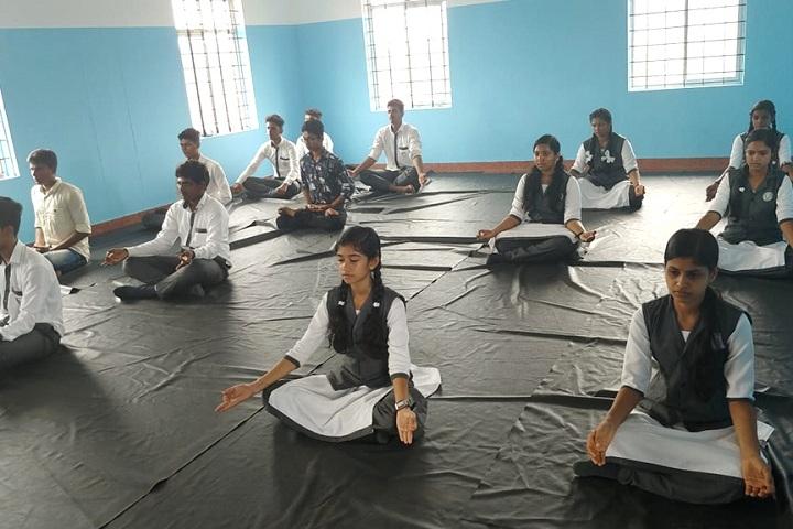 Divine Public School-World yoga day