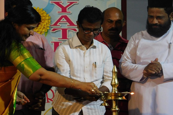 Gayathri Central School-Lighting the lamp