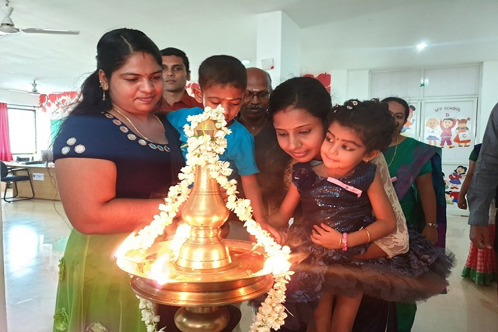 Guardian Public School-Lighting the lamp