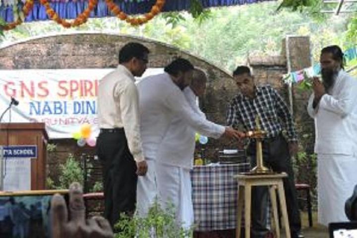 Guru Nitya English Medium School-Lighting the lamp