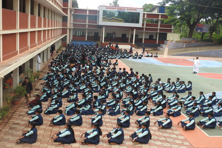 Marian Public School-Yoga Day
