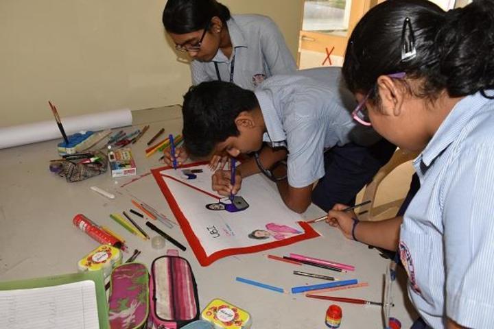 Navy Children School-Drawing Activity