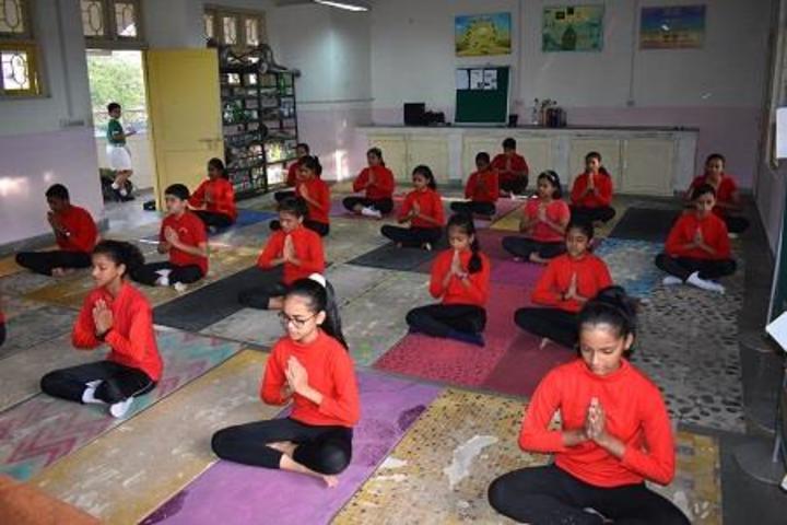 Navy Children School-Yoga Activity