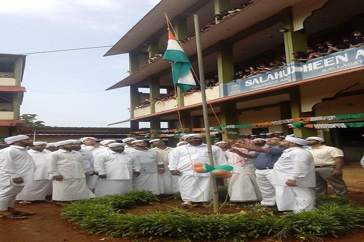 Salahudheen Ayyoobi English School-Flag-Hoisting