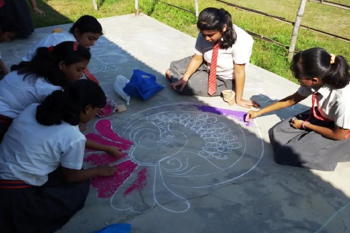 purna vikash central school- Rangoli Competition