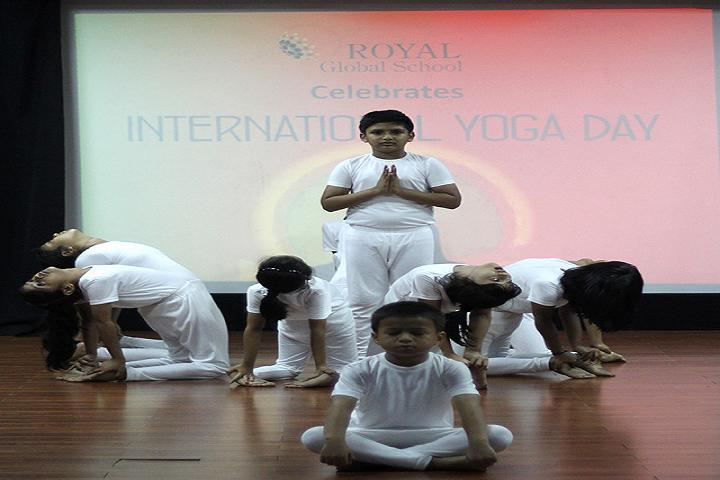 Royal global school- International Yoga Day