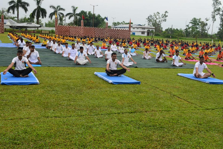 Sainik School- Yoga Day