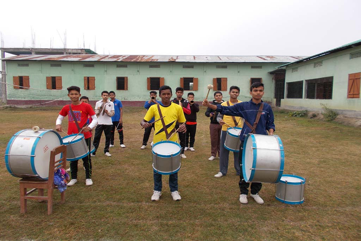 Sers Public School- Playing Drums