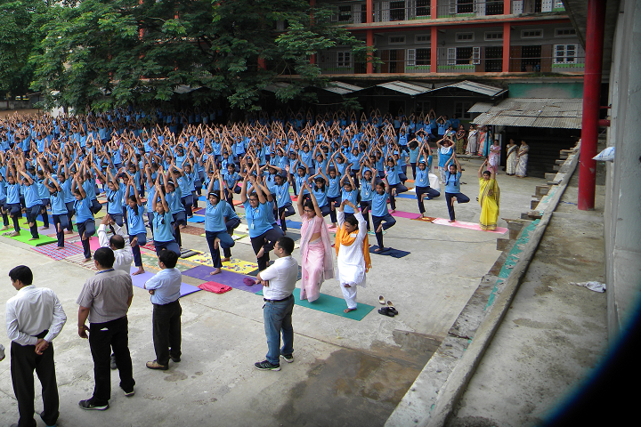 Shrimanta Shankar Academy- International Yoga Day