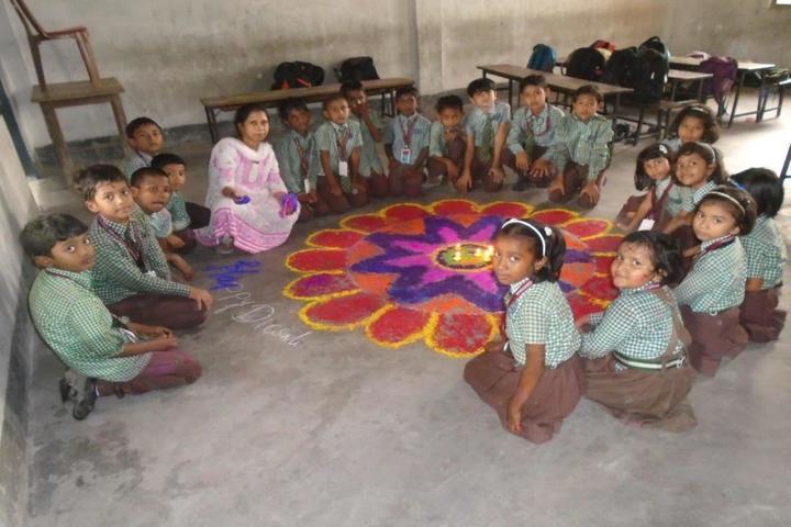 South Point English School- Rangoli Competition
