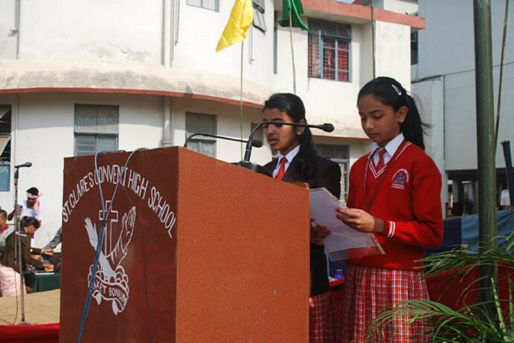 St Clare S Convent High School- Speech