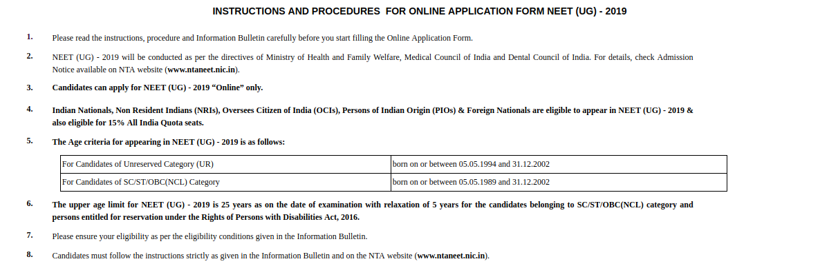 How to fill NEET Application Form 2019, Video – Step by Step Process