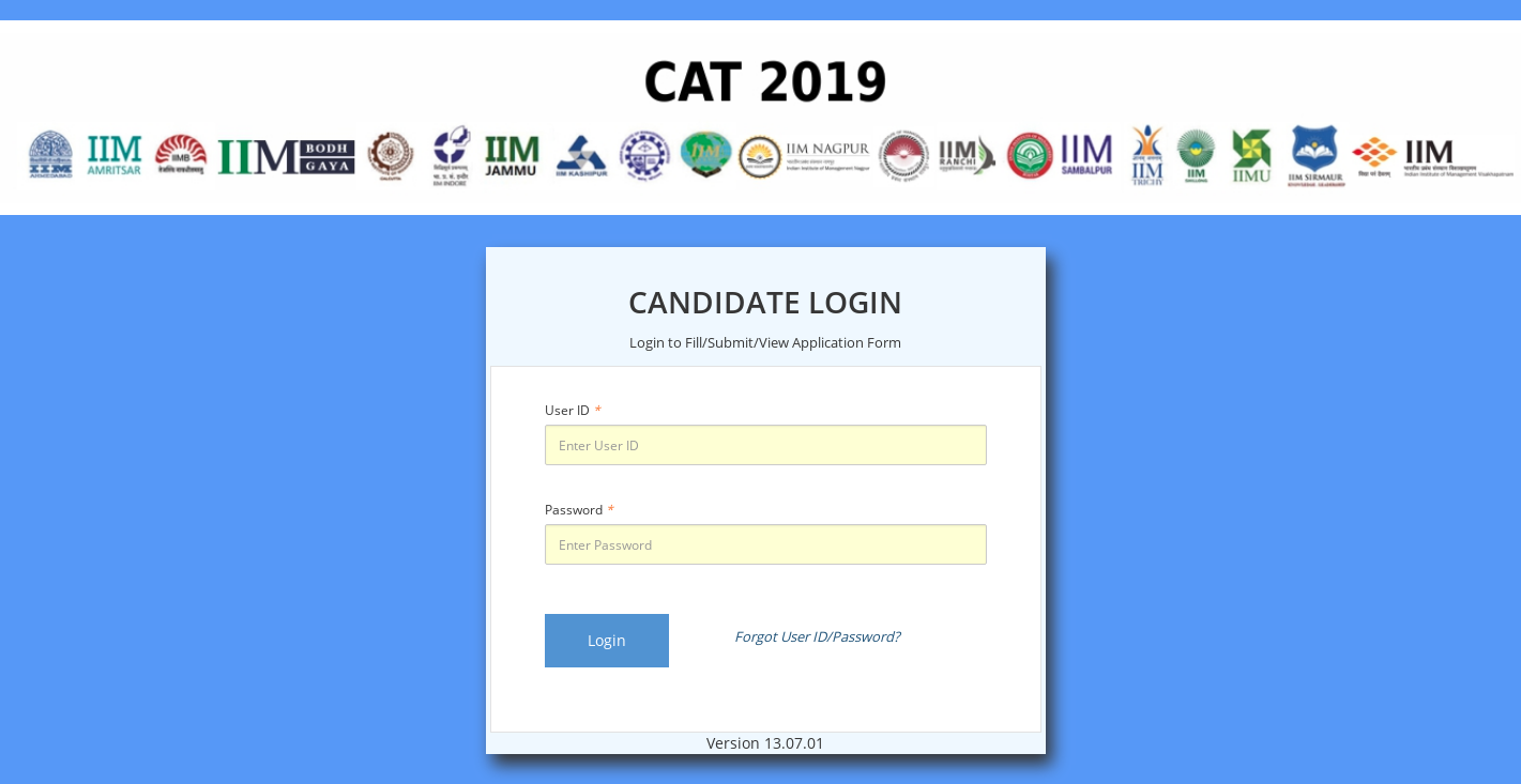 CAT Registration 2019 (Started) - Fill Application Form @iimcat ac in