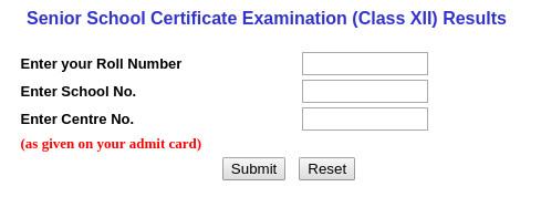 CBSE-12th-result-login-window