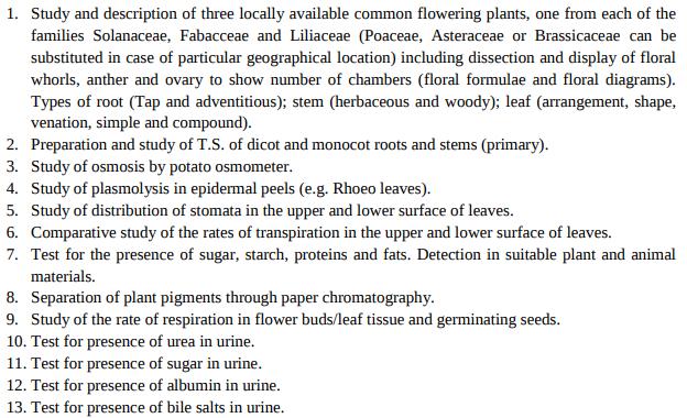 CBSE-Class-11-Biology-practical-syllabus