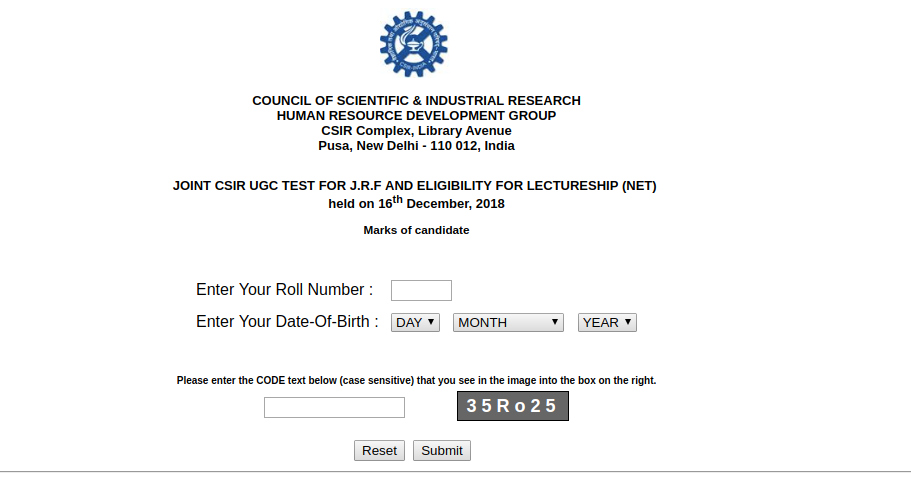 CSIR-UGC-NET-SCORECARD