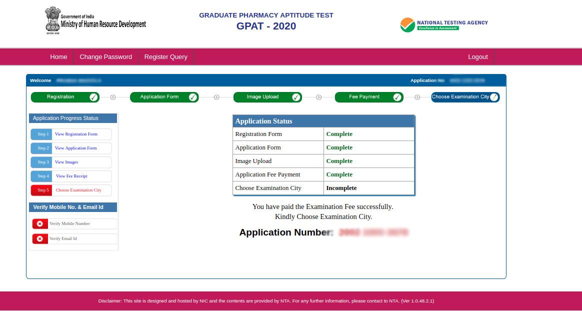GPAT-registration-19-payment-done