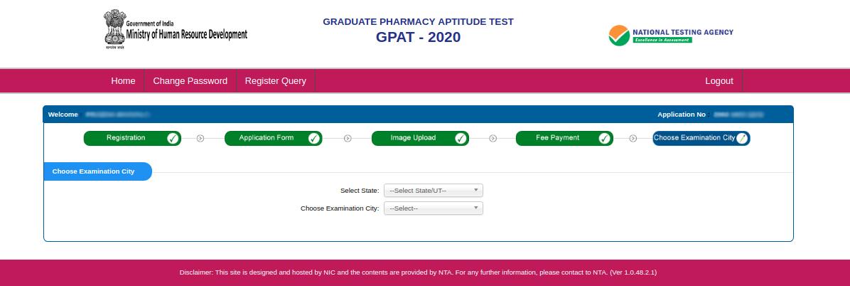 GPAT-registration-20-exam-city