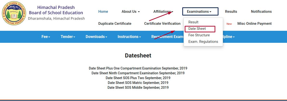 HP-Board-10th-Datesheet-link