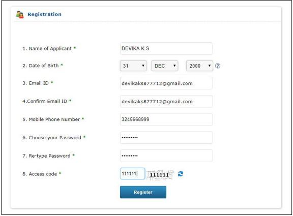 Kerala MBBS Application Form 2019, Registration - Correction