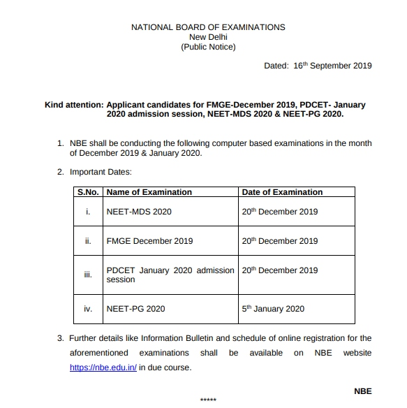 NBE-RELEASES-IMPORTANT-DATES
