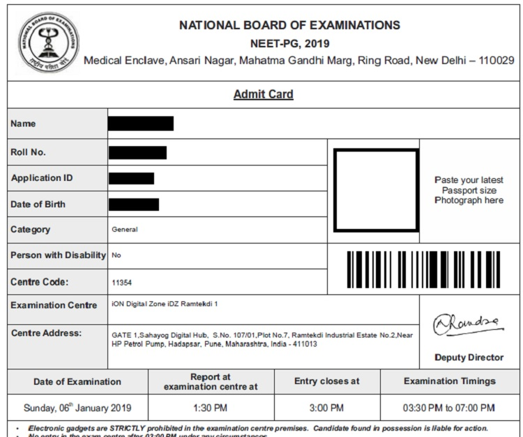 NEET PG Admit Card 2019, Hall Tickets, Mock test – Released!