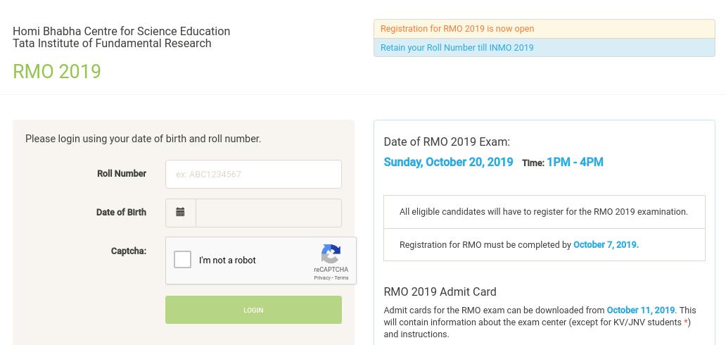 RMO-Registration-window