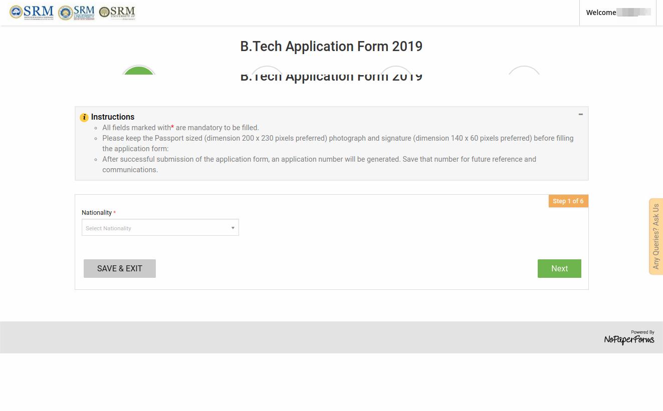 srmjeee application form 2019 released registration apply here