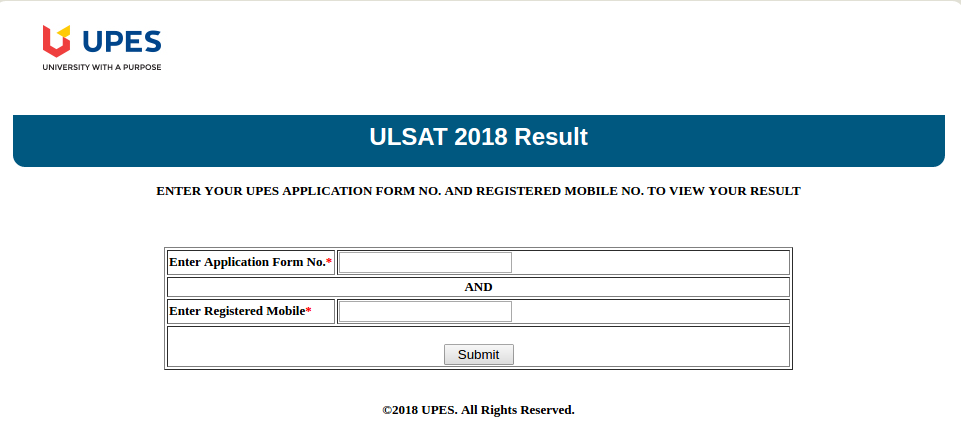 ULSAT-result-window