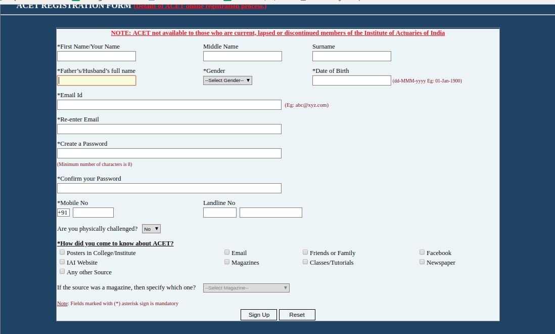 acet-registration