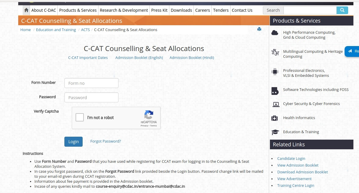 cdac-ccat-counselling