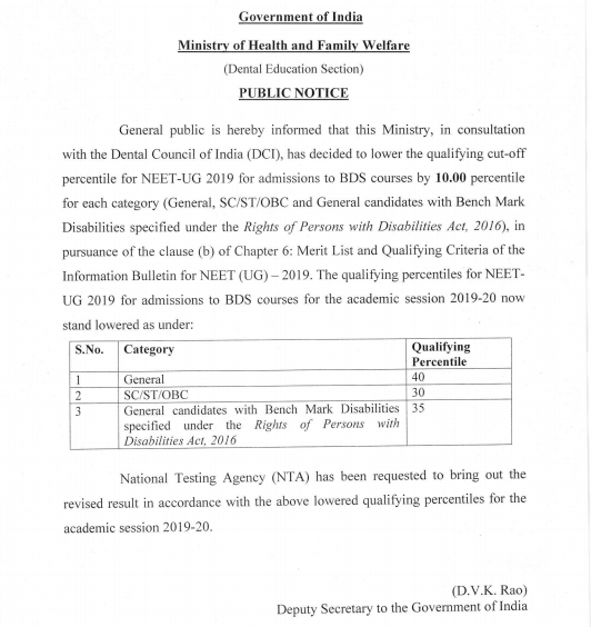 NEET Result 2019 - To be declared Soon for BDS Course!