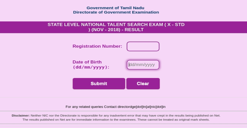 NTSE Tamil Nadu Result 2019 Released - Check stage 1 Result here