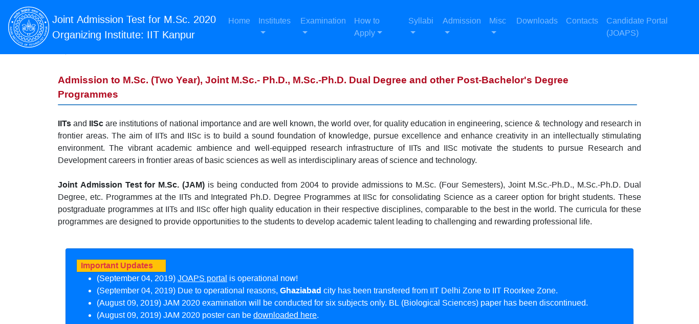 JAM Sample Papers 2020, 2019, 2018 - Previous Year Solved