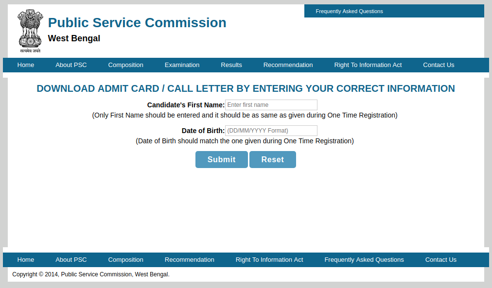 WBCS Admit Card 2019 (Released)- Download Mains Hall Ticket